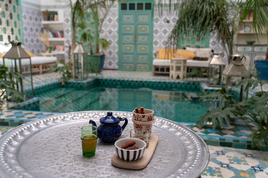 Moroccan tea at Riad BE