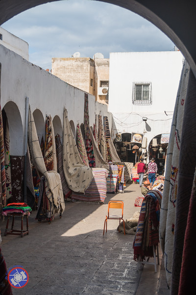 """""""Carpet Alley"""" in the New Medina of Casablanca (©simon@myeclecticimages.com)"""