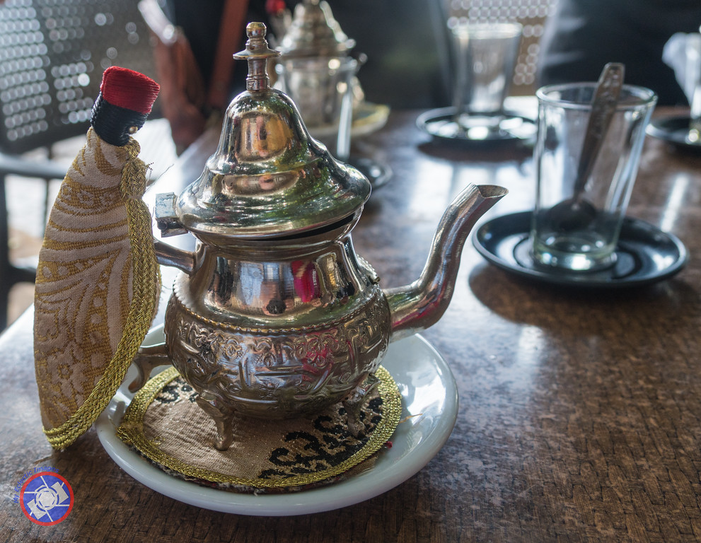 A Teapot Brewing Fresh Mint Tea (©simon@myeclecticimages.com)
