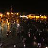 Marrakech medina at night