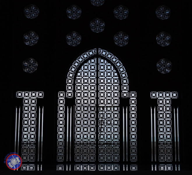 An Ornate Door in the Hasan II Mosque Looking Out of the Atlantic Ocean (©simon@myeclecticimages.com)