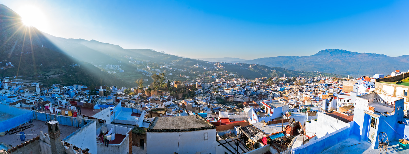 Sunrise over Chefchaouen Morocco - cycling vacation and photography tour with Kevin Wenning
