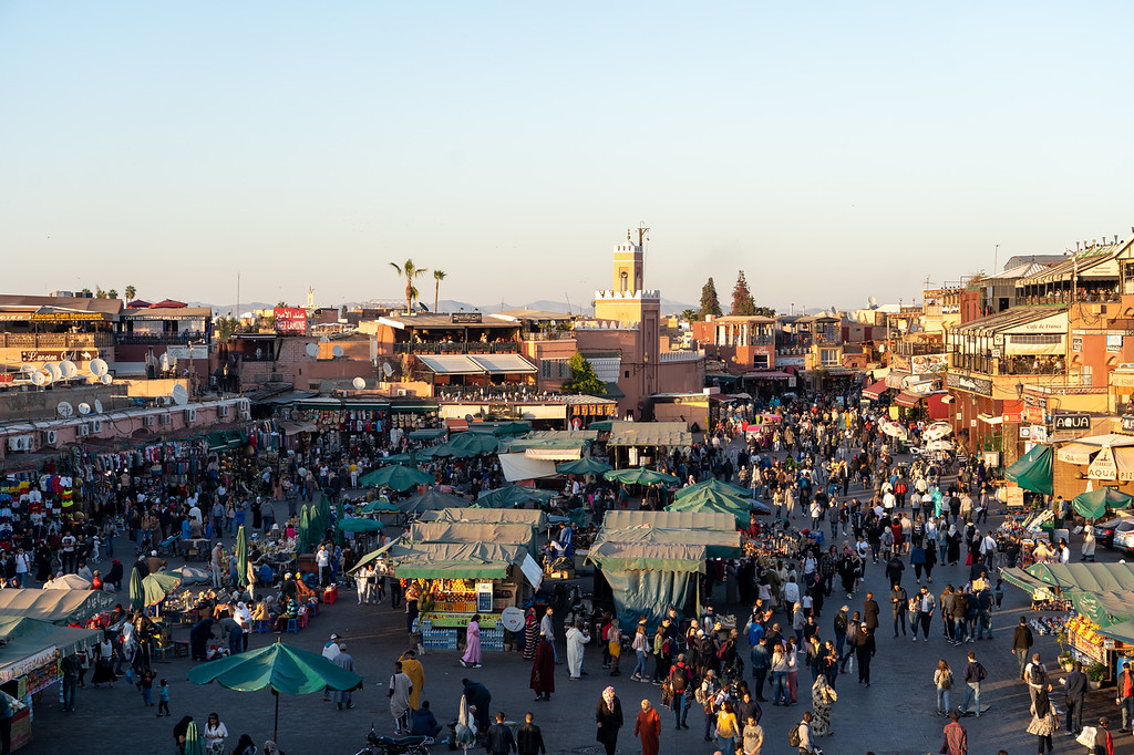 Djemaa-el-Fna in Marrakech