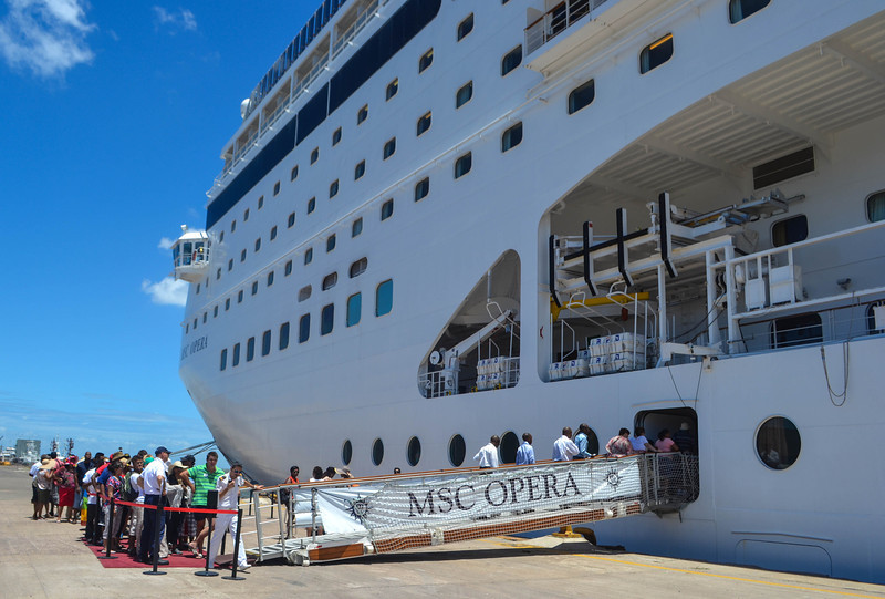 Boarding the MSC Opera