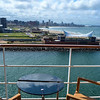 View from my balcony as we sail out of Durban