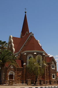 The 1907 Christuskirche, built of local sandstone...