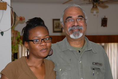 My 'sista' Julia and couch host Ashok in Windhoek...they are so much fun!!