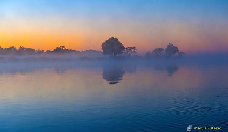 Okavango River - Sunrise, Bwabwata NP