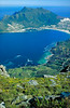Looking down on Hout Bay, home of the the bold and the beautiful, from Silvermine Forest Reserve.
