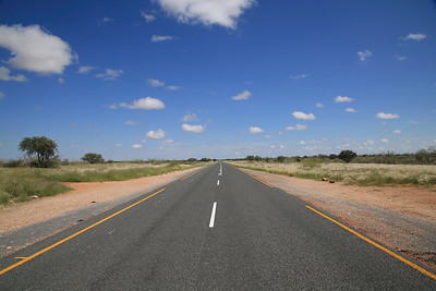 B2 highway - main highway leading south from Windhoek