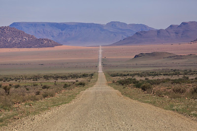 C27 highway approaching  Namib Naukluft Park