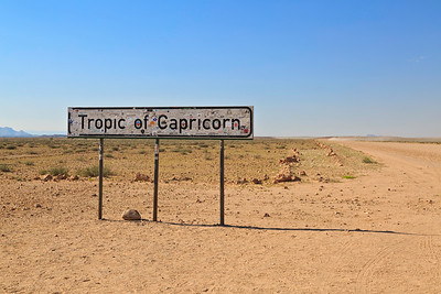 Tropic of Capricorn crossing on the C14