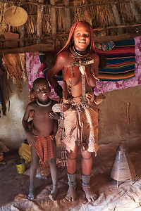 Himba woman and children