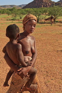 Damara woman with child