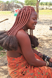 Himba woman with elaborately braided hair