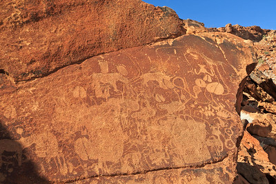 Ancient rock carvings estimated to be between 2,000 and 5,000 years old