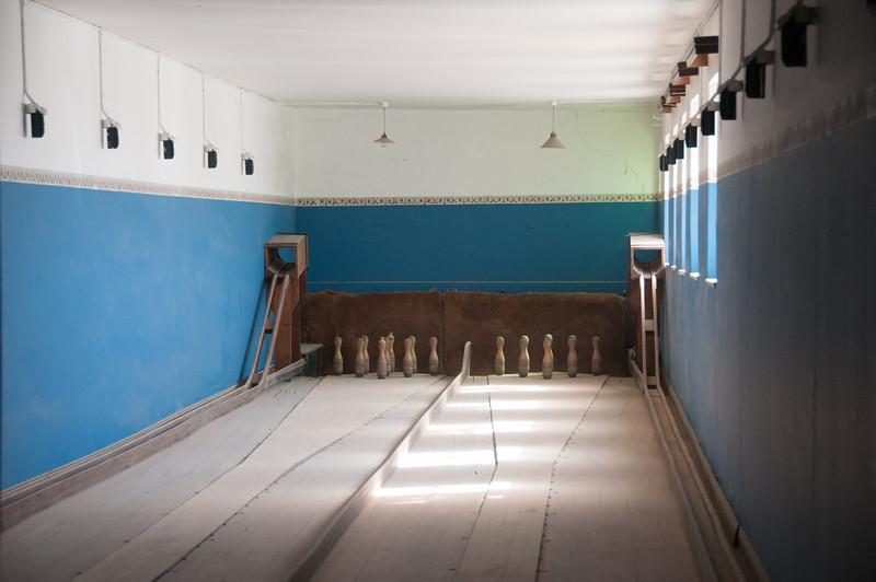 Inside bowling alley in Kolmanskopf in Luderitz, Namibia