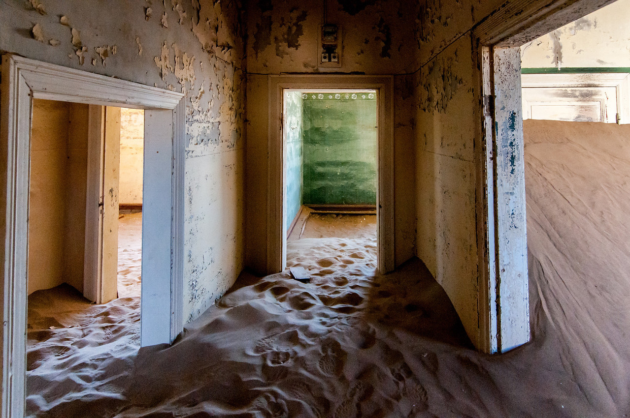 Abandoned building in Kolmanskopf in Luderitz, Namibia