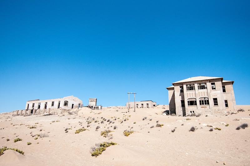 Abandoned buildings in Kolmanskopf in Luderitz, Namibia
