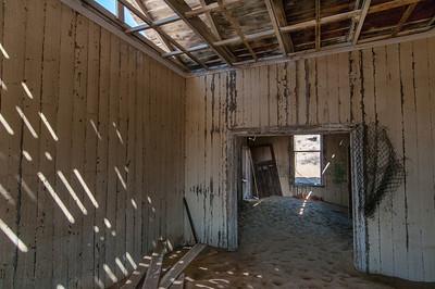 Inside abandoned building in Kolmanskopf in Luderitz, Namibia