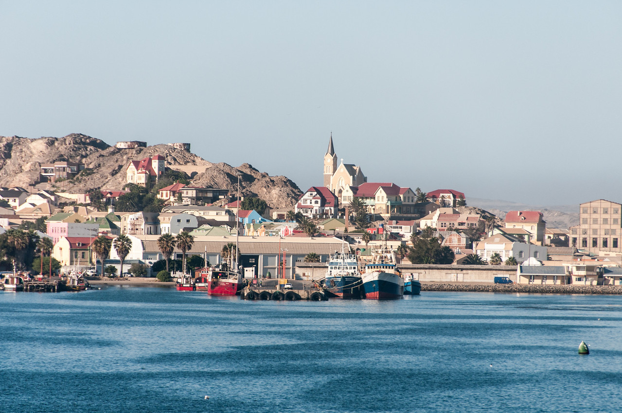 View of the town of Luderitz in Namibia