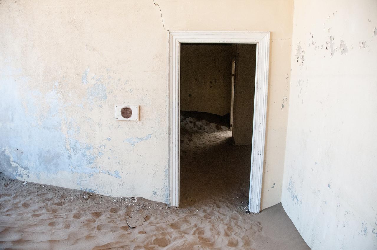Inside abandoned building in Kolmanskopf, Luderitz, Namibia