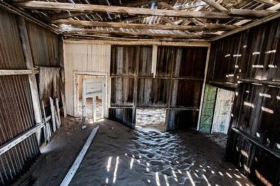 Abandoned building in Kolmanskopf in Luderitz, Namibia