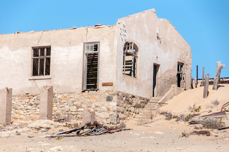 Abandoned building in mining town of Kolmanskopf in Luderitz, Namibia