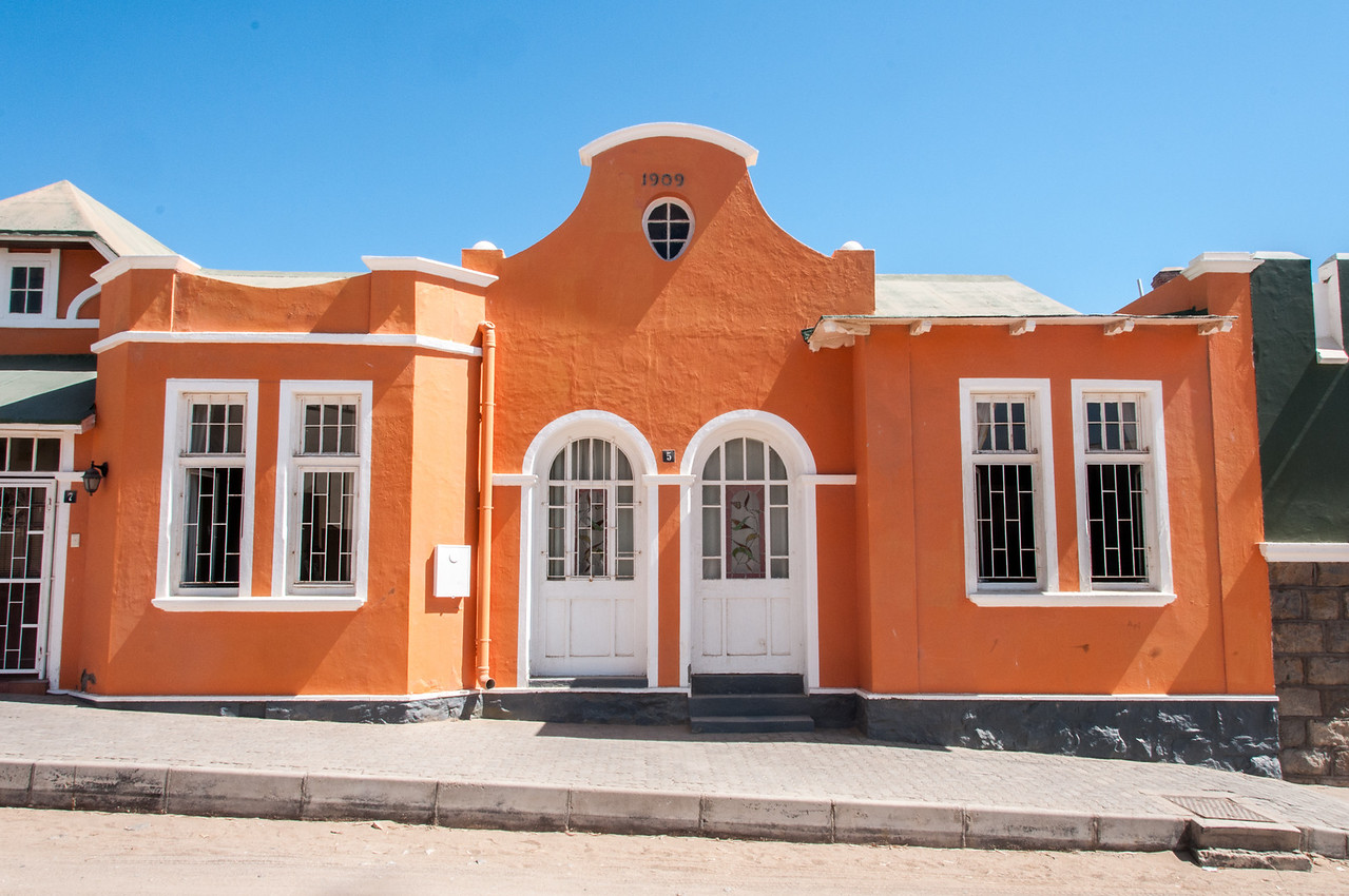 Colonial architecture in Luderitz, Namibia