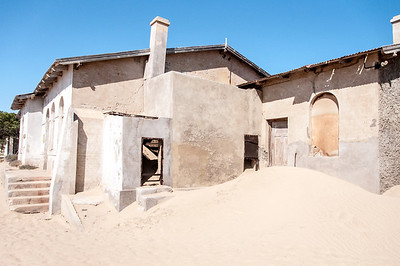 Abandoned building in former mining town of Kolmanskopf in Luderitz, Namibia