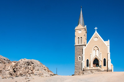 Old church in Luderitz, Namibia