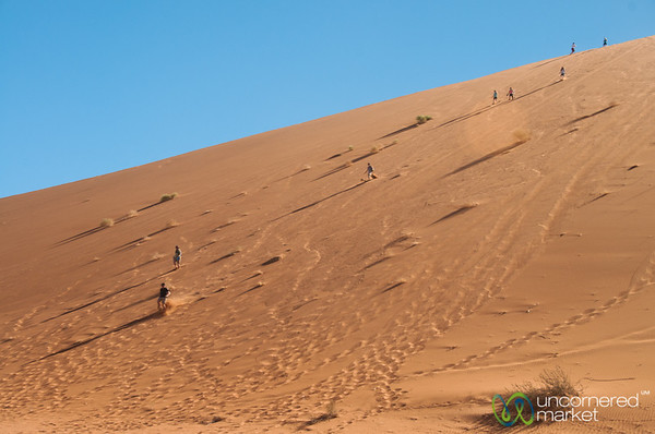 Running Down Big Daddy Dune in the Namib Desert - Namibia