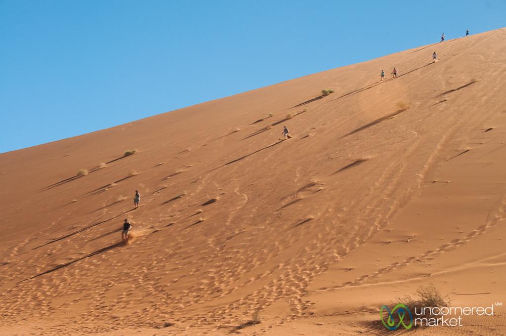 Running Down Big Daddy Dune in the Namib Desert - Namibia