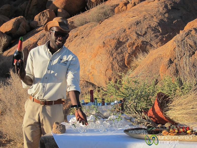 Sundowner at Sossusvlei Lodge - Namibia