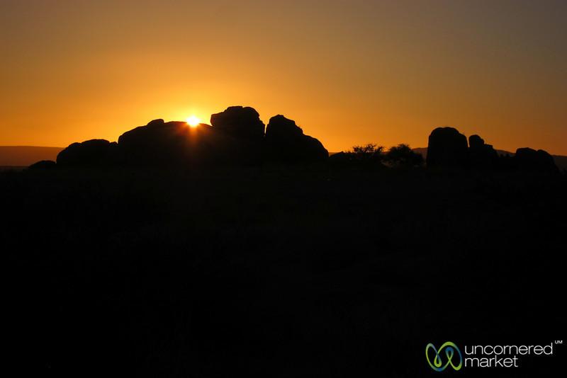 Sunset in the Desert - Namibia