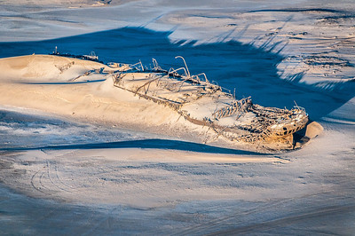 Shipwreck at Namib Desert