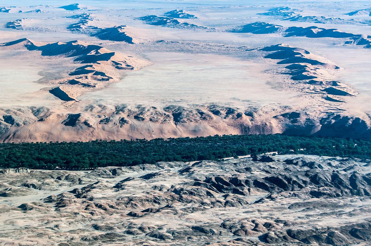 Aerial view of Namib Desert in Namibia