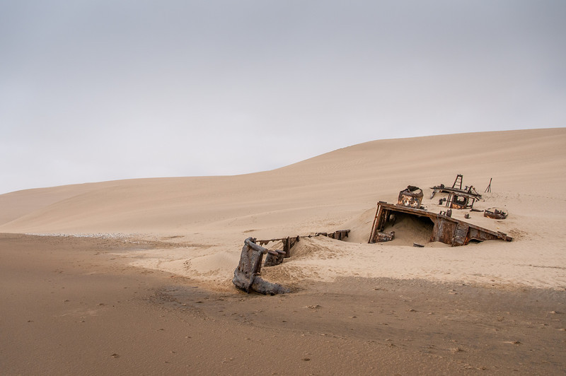 Shipwreck at Namib Desert in Namibia