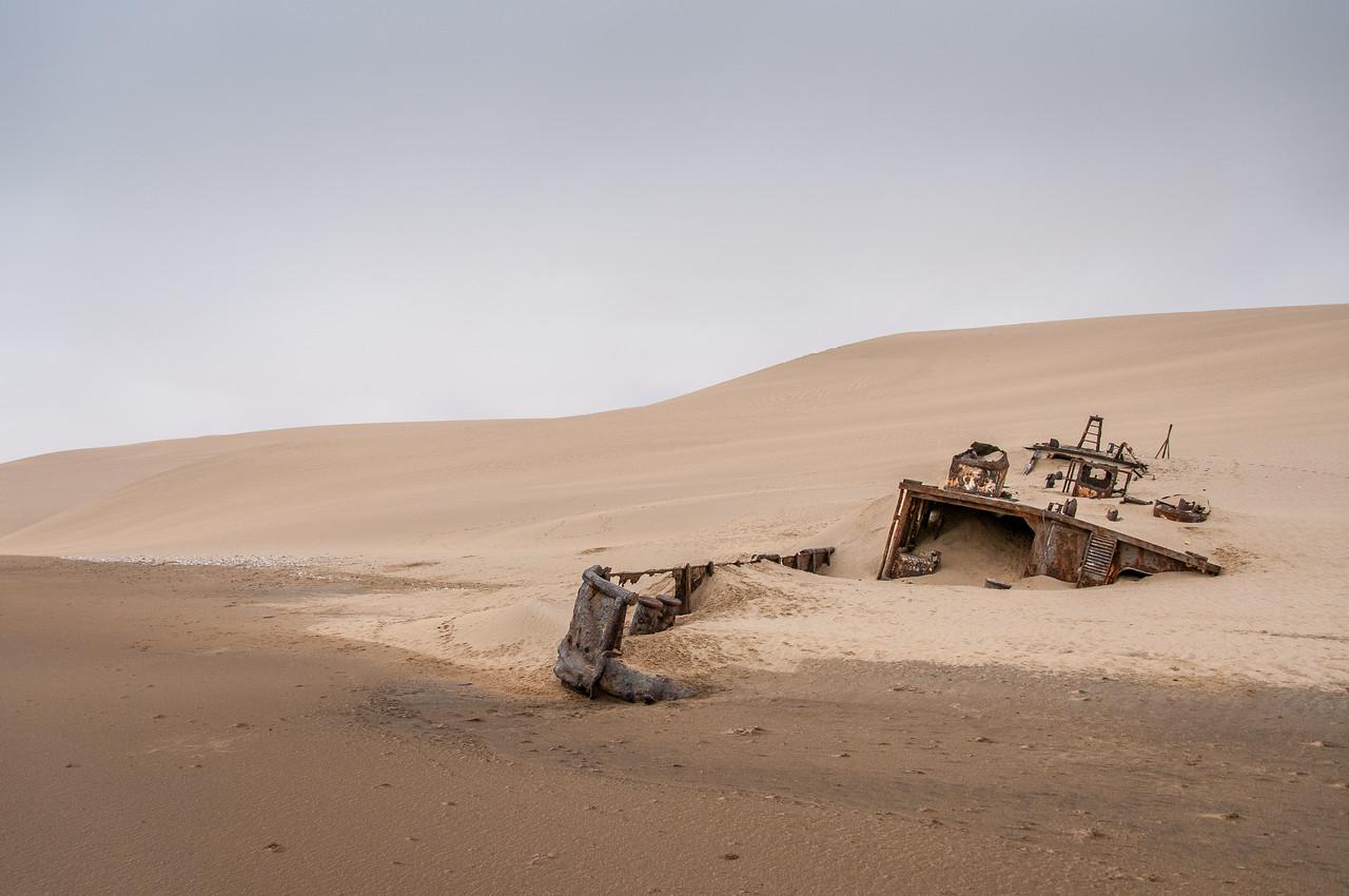 Shipwreck at Namib Desert in Namibia
