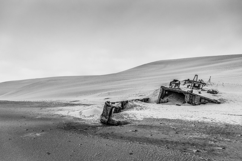 Shipwreck in the Namib Desert