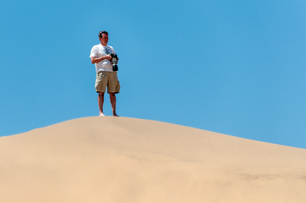 Photographer shooting at Namib Desert