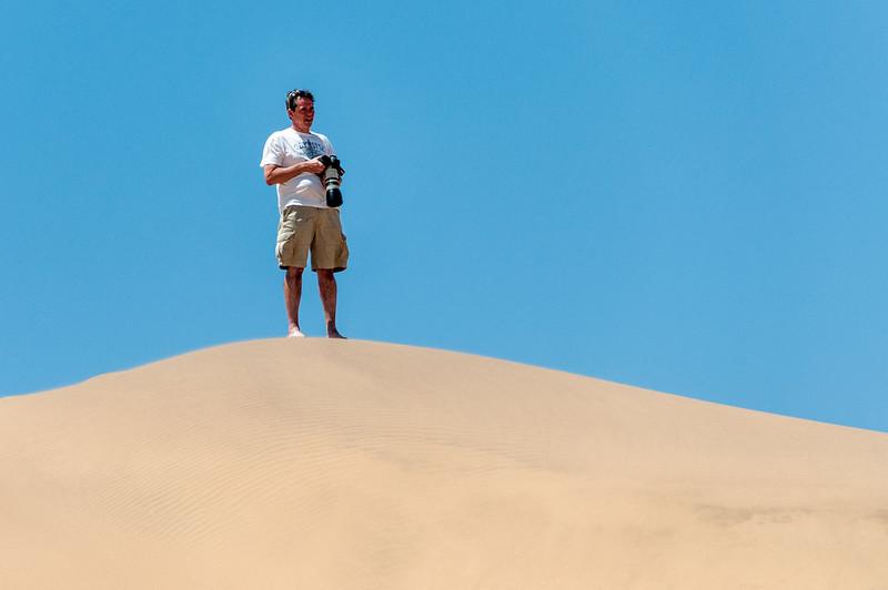 Photographer shooting at Namib Desert