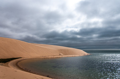 Desert and ocean meets at Namib Desert, Namibia
