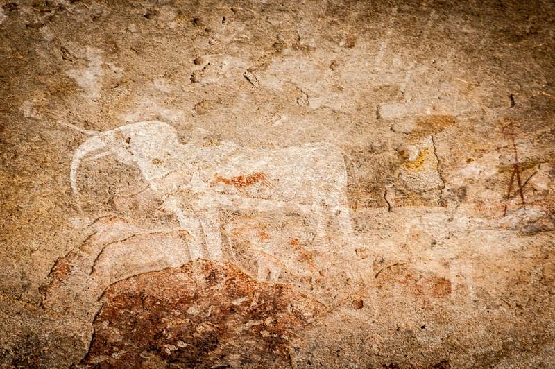 Heiroglyph at the Damara Village in Namibia