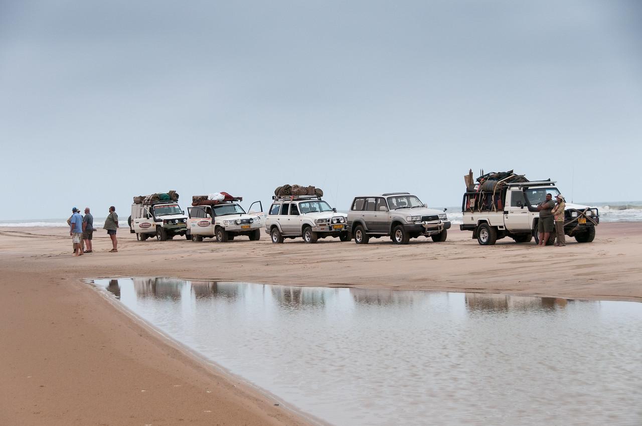 Vehicles at Namib Desert in Namibia