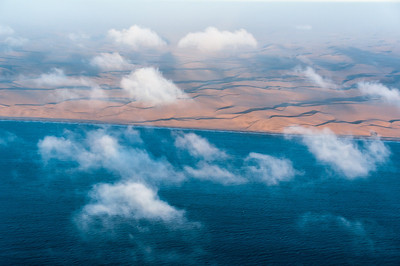 Desert and ocean meets at Namib Desert