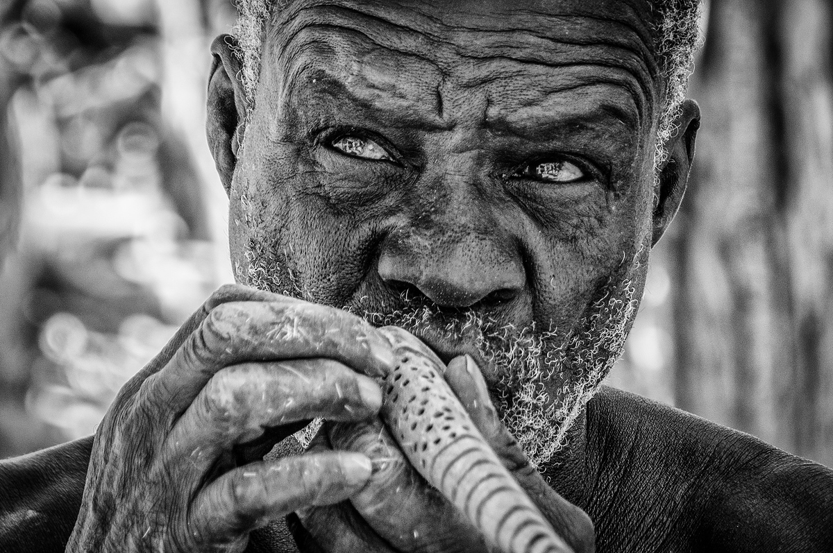 An Old Man In A Damara Village, Namibia
