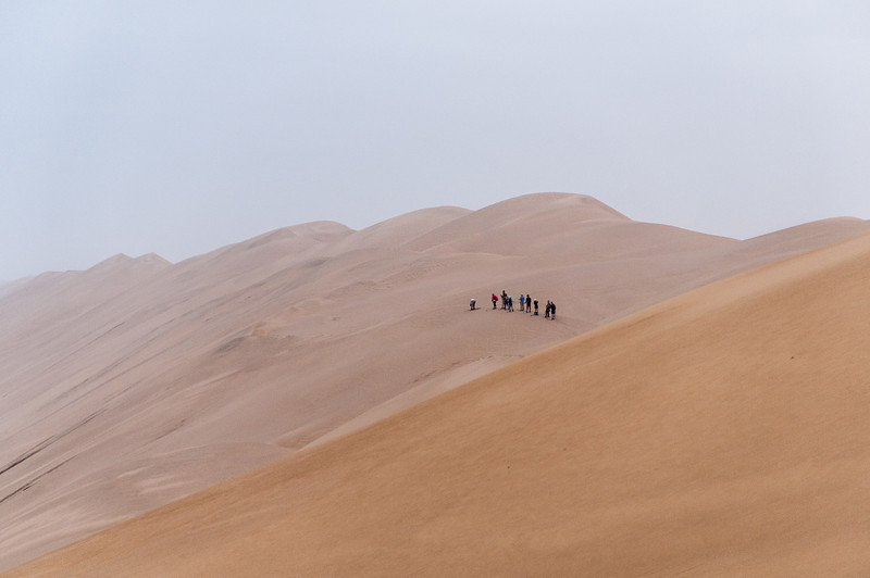 Sand dunes at the Namib Desert