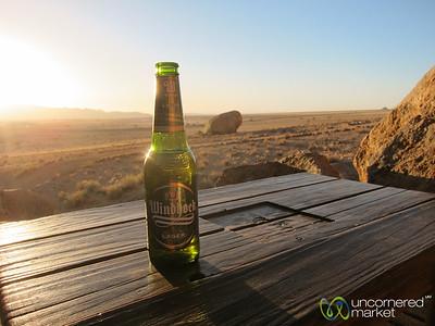 Windhoek Beer at Sundown - Aus, Namibia