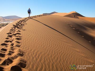 Dune Walking - Namib Desert, Namibia
